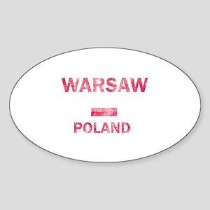 Warsaw Poland Designs Sticker (Oval)
