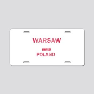 Warsaw Poland Designs Aluminum License Plate