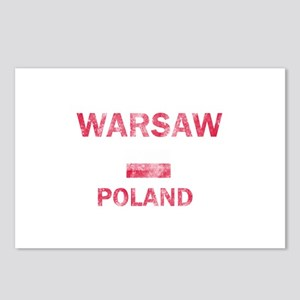 Warsaw Poland Designs Postcards (Package of 8)
