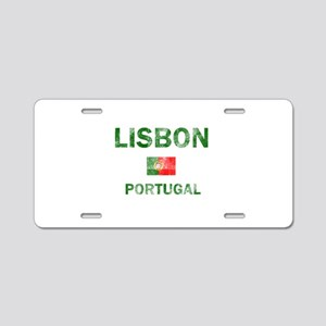 Lisbon Portugal Designs Aluminum License Plate
