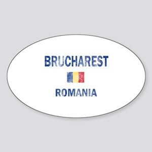 Brucharest Romania Designs Sticker (Oval)