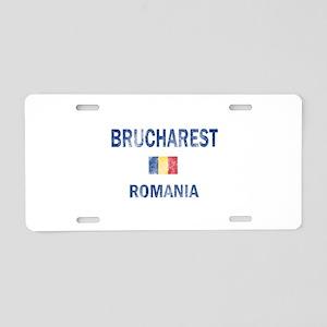 Brucharest Romania Designs Aluminum License Plate