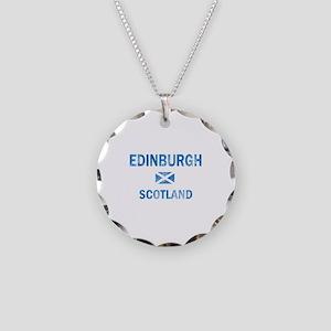 Edinburgh Scotland Designs Necklace Circle Charm