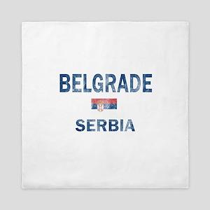 Belgrade Serbia Designs Queen Duvet