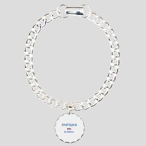 Bratislava Slovakia Designs Charm Bracelet, One Ch