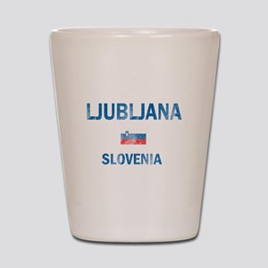 Ljubljana Slovenia Designs Shot Glass