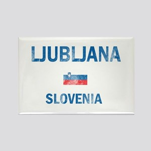 Ljubljana Slovenia Designs Rectangle Magnet
