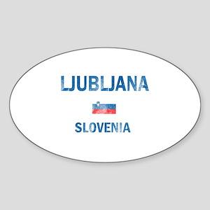 Ljubljana Slovenia Designs Sticker (Oval)