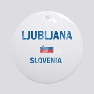 Ljubljana Slovenia Designs Ornament (Round)