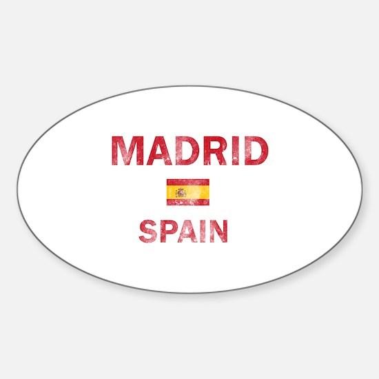 Madrid Spain Designs Sticker (Oval)