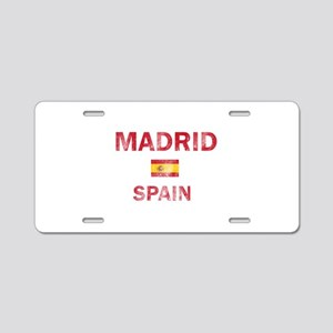 Madrid Spain Designs Aluminum License Plate