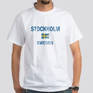 Stockholm Sweden Designs White T-Shirt