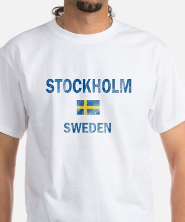 Stockholm Sweden Designs White T-Shirt