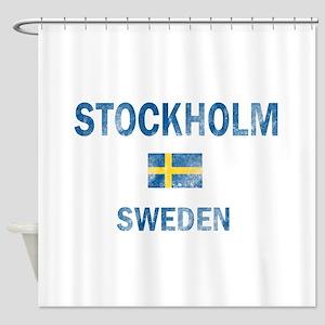 Stockholm Sweden Designs Shower Curtain