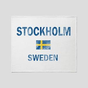 Stockholm Sweden Designs Throw Blanket