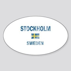 Stockholm Sweden Designs Sticker (Oval)