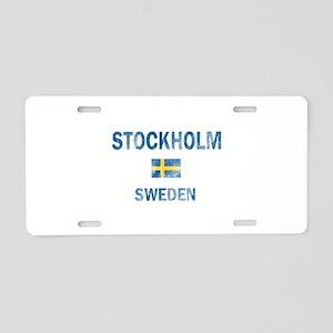 Stockholm Sweden Designs Aluminum License Plate