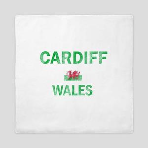 Cardiff Wales Designs Queen Duvet