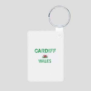 Cardiff Wales Designs Aluminum Photo Keychain