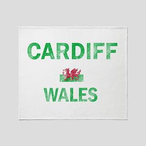 Cardiff Wales Designs Throw Blanket