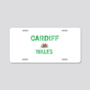 Cardiff Wales Designs Aluminum License Plate