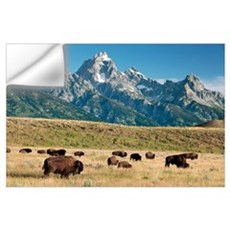 Herd of American Bison Wall Decal
