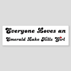 Emerald Lake Hills girl Bumper Sticker
