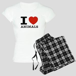 I Love Animals Women's Light Pajamas