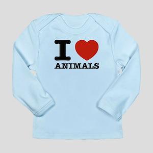 I Love Animals Long Sleeve Infant T-Shirt