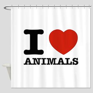 I Love Animals Shower Curtain