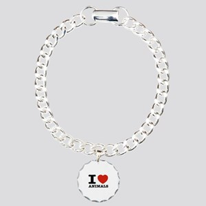 I Love Animals Charm Bracelet, One Charm