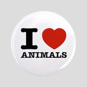 """I Love Animals 3.5"""" Button"""