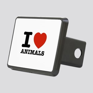 I Love Animals Rectangular Hitch Cover