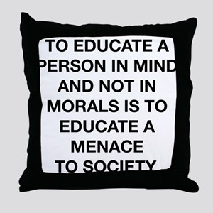 A Menace To Society Throw Pillow