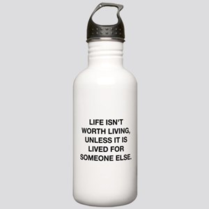 A Life Worth Living Stainless Water Bottle 1.0L