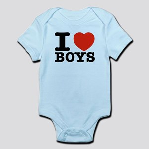 I Love Boys Infant Bodysuit
