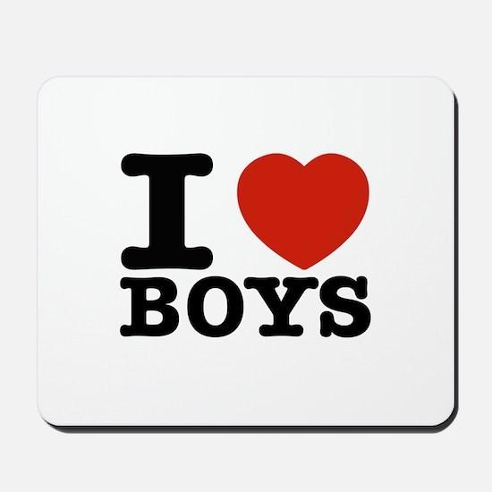 I Love Boys Mousepad