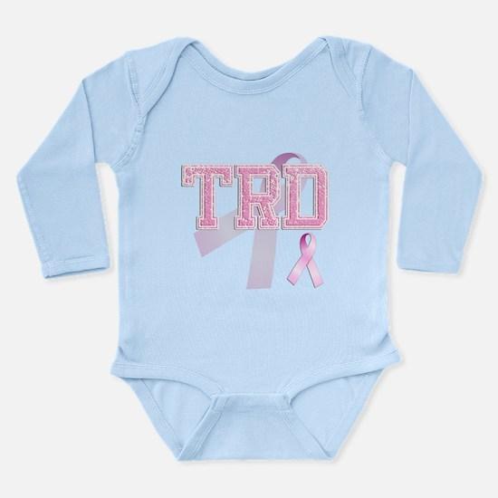 TRD initials, Pink Ribbon, Long Sleeve Infant Body
