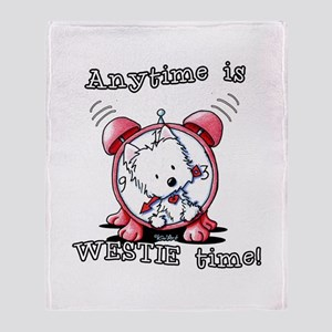 Anytime Is Westie Time Throw Blanket