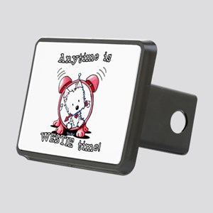 Anytime Is Westie Time Rectangular Hitch Cover