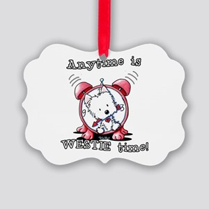 Anytime Is Westie Time Picture Ornament