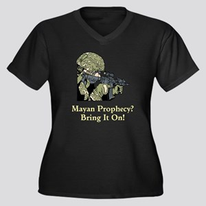 Mayan Prophecy, ring it on Women's Plus Size V-Nec