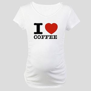 I Love Coffee Maternity T-Shirt