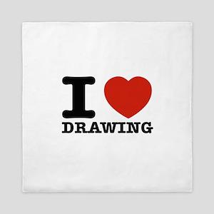 I Love Drawing Queen Duvet