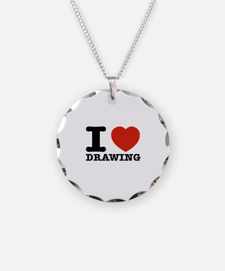 I Love Drawing Necklace