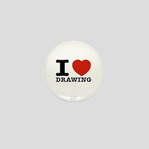 I Love Drawing Mini Button