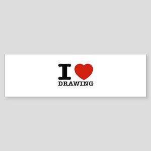 I Love Drawing Sticker (Bumper)