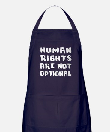 Human Rights Are Not Optional Apron (dark)