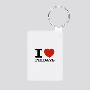 I Love Fridays Aluminum Photo Keychain