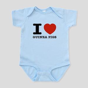 I Love Guinea Pigs Infant Bodysuit